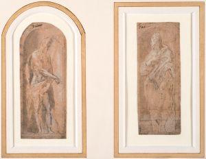 El Greco (Domenikos Theotokopoulos) - Saint Jean Baptiste (i); Saint Jean l'Evangéliste (ii)