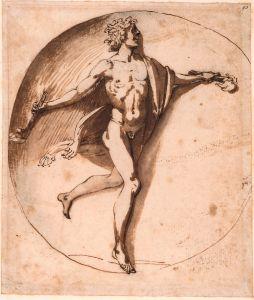 Poussin Nicolas - Bacchus dansant et tenant deux torches